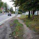 на улице Ново–Советской тротуар закончился столбом
