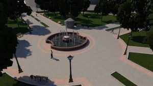 В Круглом сквере Брянска стали сооружать новый фонтан