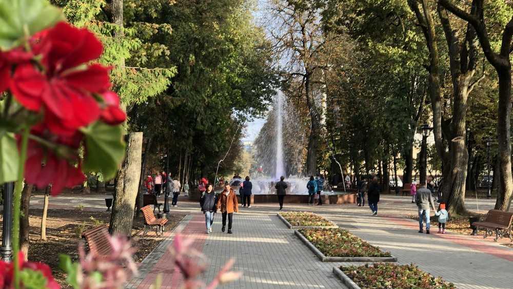 Жители Брянска вернулись в новый Круглый сквер