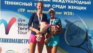 Брянская теннисистка Влада Коваль победила на международном турнире