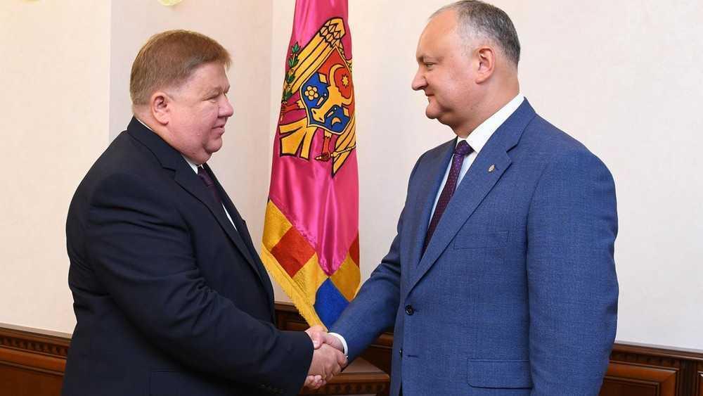 Заместитель брянского губернатора встретился с президентом Молдавии