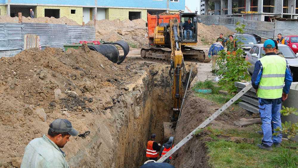 Ливневую канализацию в переулке Пилотов сделают в Брянске через месяц