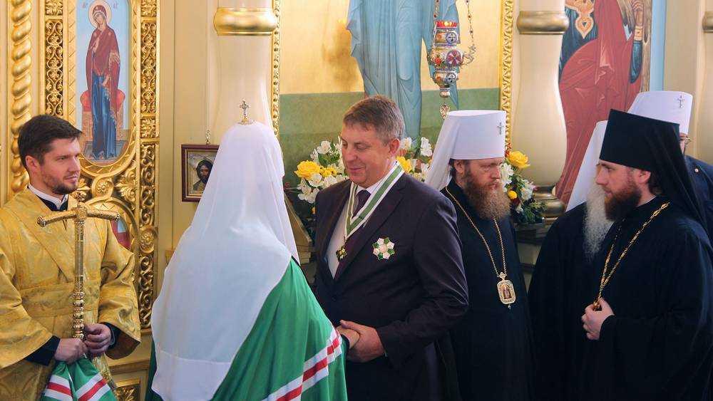 Патриарх наградил брянского губернатора орденом Серафима Саровского