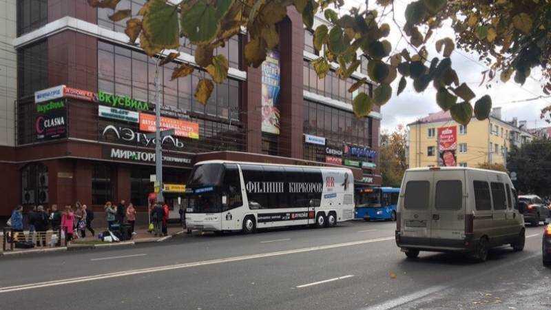 В Брянске заплутал автобус Филиппа Киркорова