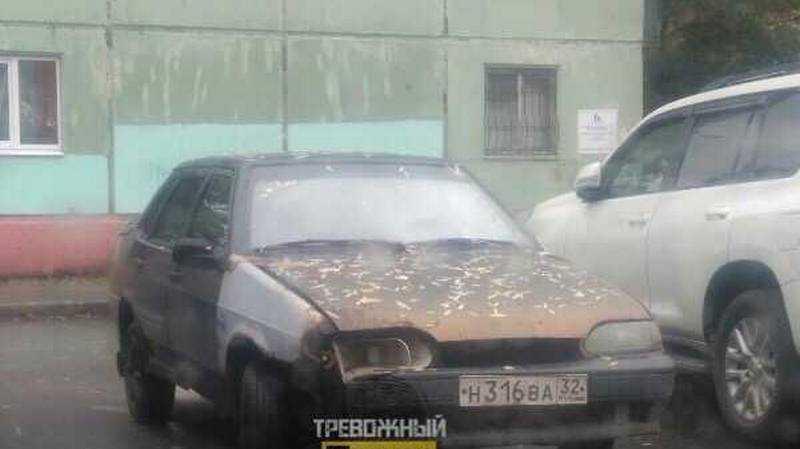 В Брянске на стоянке заметили «машину смерти»