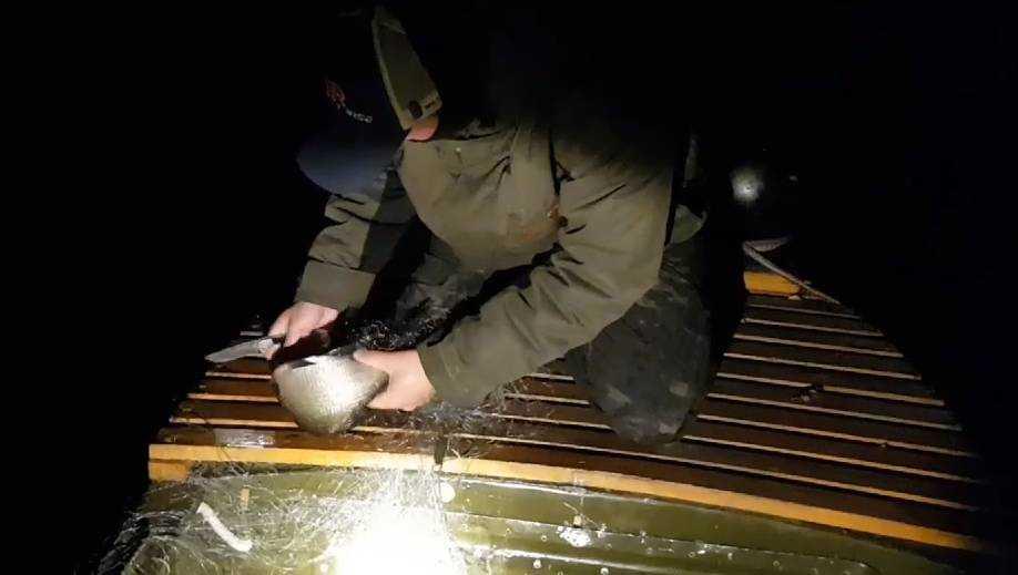 Брянские борцы с браконьерами нашли сети в зимовальных ямах