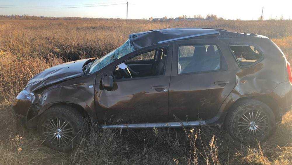 В Навлинском районе пенсионер на Renault Duster опрокинулся в кювет
