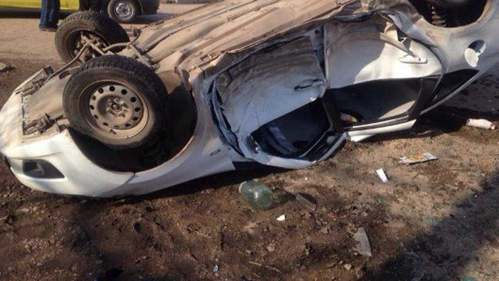 Под Жуковкой пьяный водитель съехал в кювет и сломал ребра