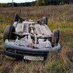 На дороге Брянск– Дятьково перевернулся «Мицубиси Лансер»