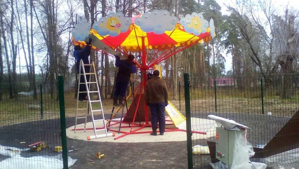 В Локте обновили старинный Апраксинский парк