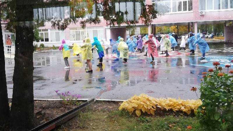 В Брянской гимназии №7 дети оригинально поздравили своих учителей