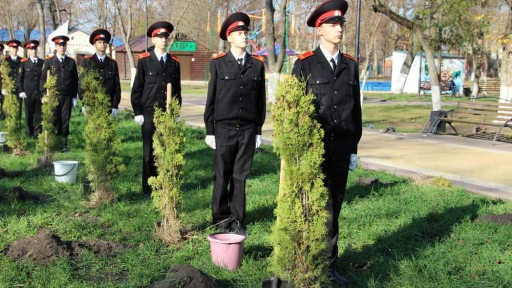 В брянском парке Железнодорожников открыли аллею в память о погибших на войне