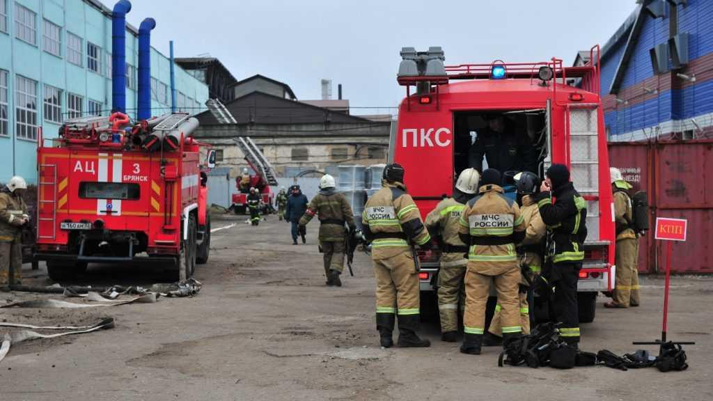 В ЗАО СП «Брянсксельмаш» ликвидировали условный пожар