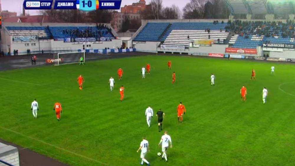 Футболисты брянского «Динамо» сыграли с тульской командой вничью