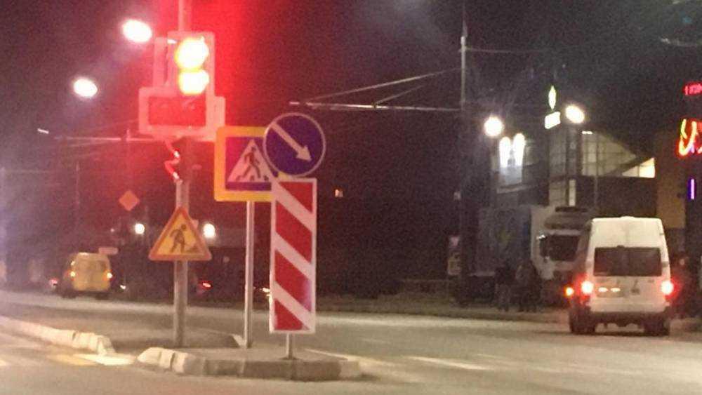 В Брянске светофор-невидимку освободили от знаков