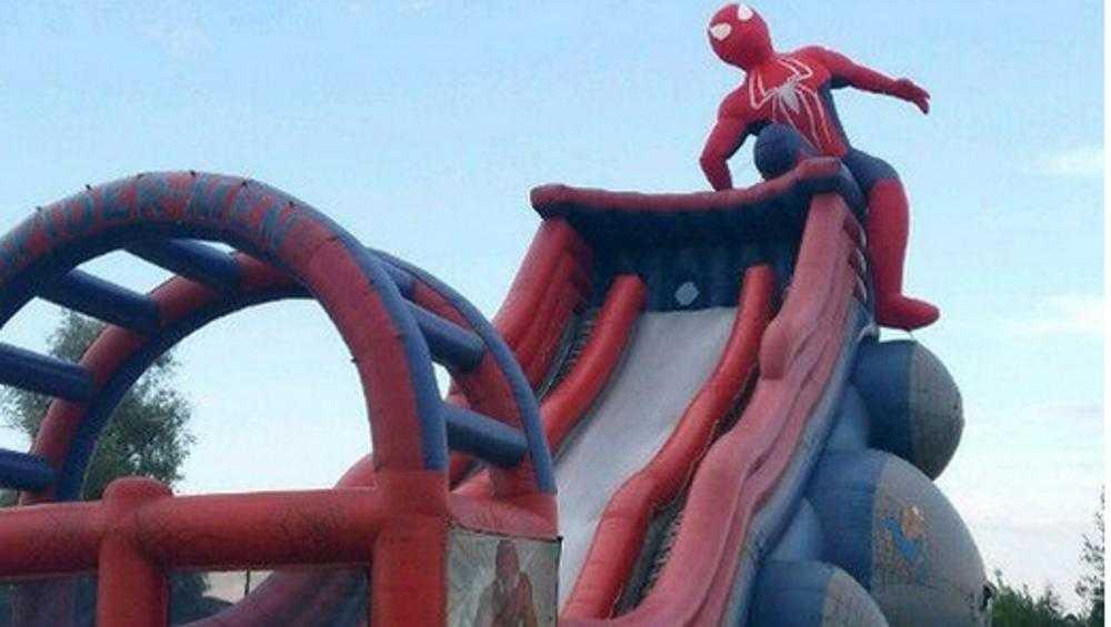 В Брянске выставили на продажу батут «Человек–паук»