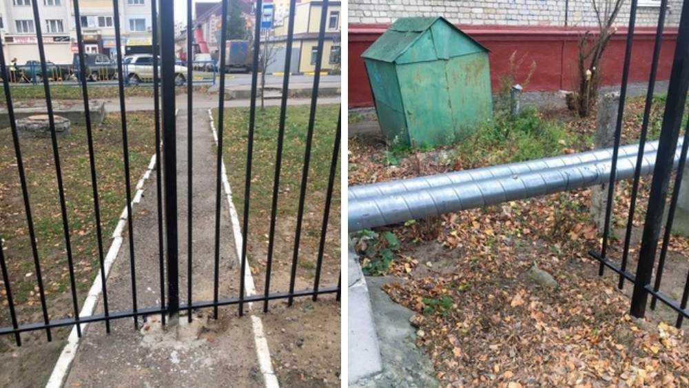 В Брянске установили странный забор на улице Красный Маяк