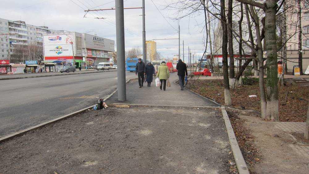 Капитальный ремонт улицы Авиационной заканчивается в Брянске