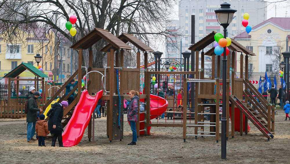 В брянском парке железнодорожников открылся детский городок