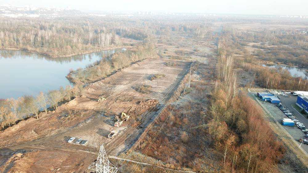 В Брянске началось строительство дороги от вокзала до магазина «Метро»