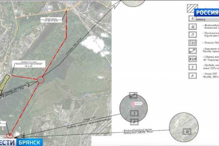 В Брянске возле Мутного озера стала прорубать просеку под будущую дорогу