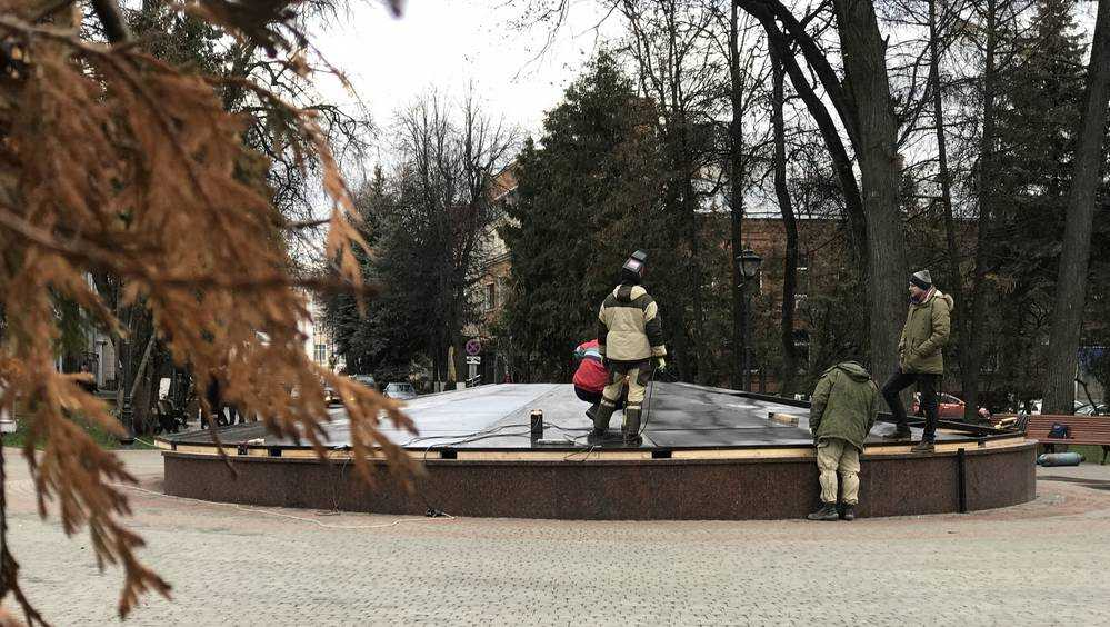 В Брянске законсервировали на зиму фонтан в Круглом сквере