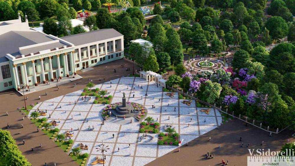 Брянский архитектор показал проект реконструкции площади перед ДК БМЗ