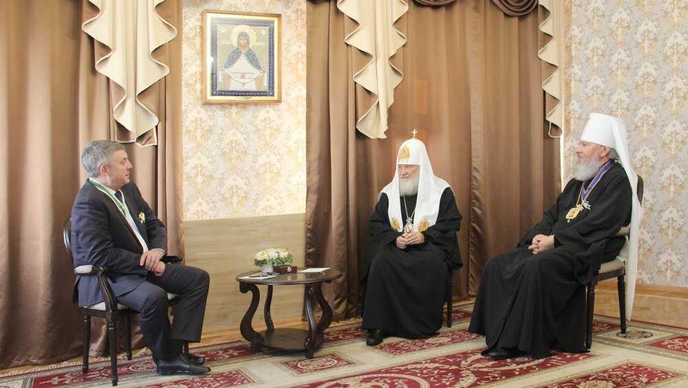 Патриарх Кирилл поблагодарил брянского губернатора за гостеприимство