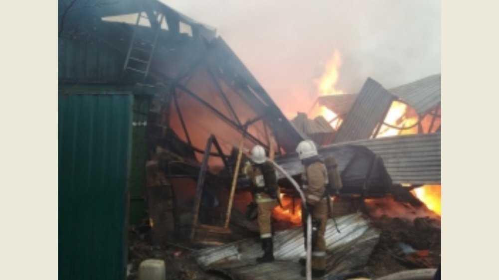 В Брянске сгорели дом и гараж на улице 2-я Мичурина