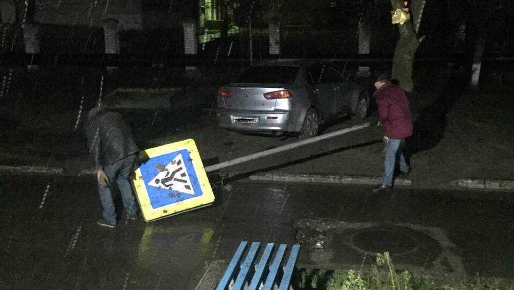 В Брянске джентльмены удачи утащили дорожный знак