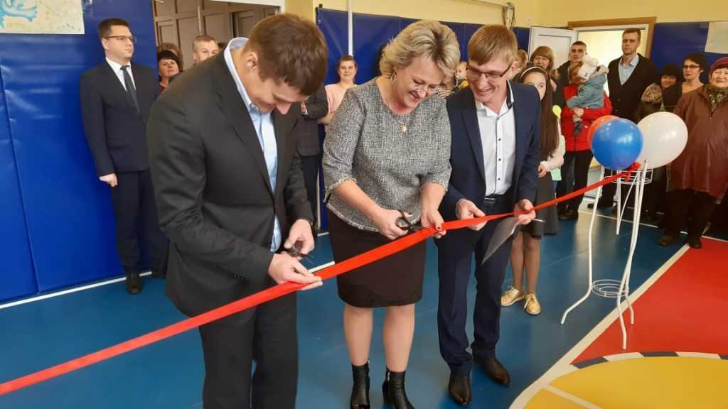 В Карачевском районе после ремонта открылся спортивный зал Березовской школы