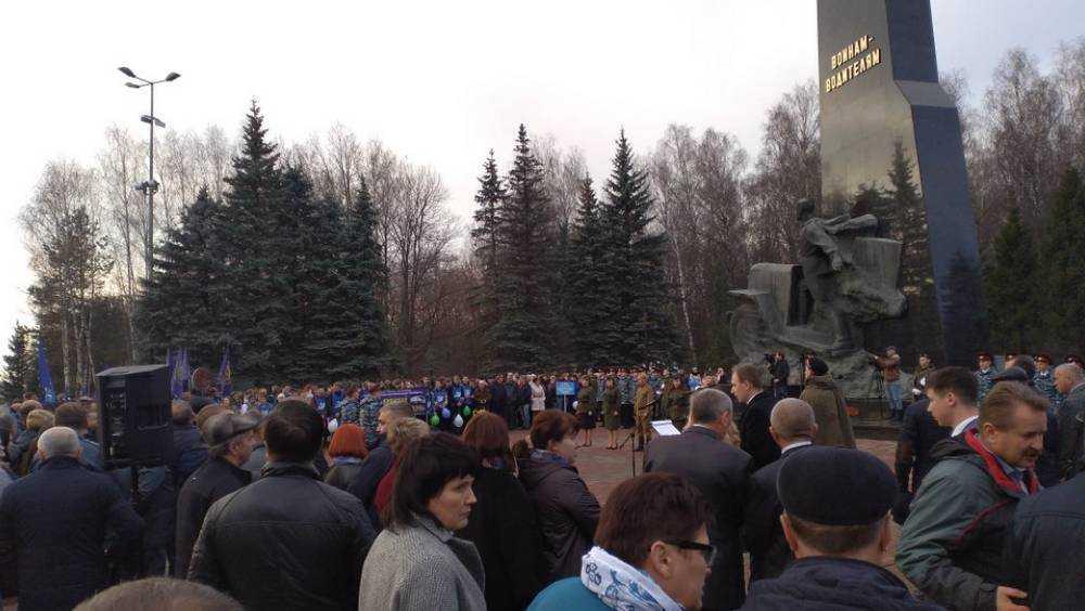 Под Брянском после реконструкции открыли памятник воинам-водителям