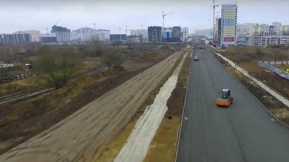 В Брянске строительство новых дорог показали с высоты птичьего полета