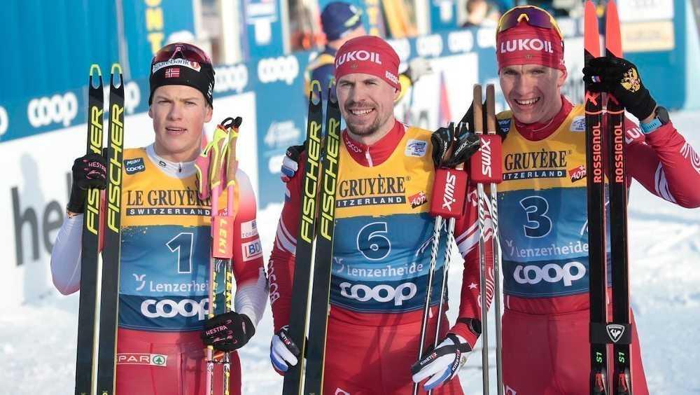 Брянский лыжник Большунов взял «бронзу» в первой гонке на «Тур де Ски»