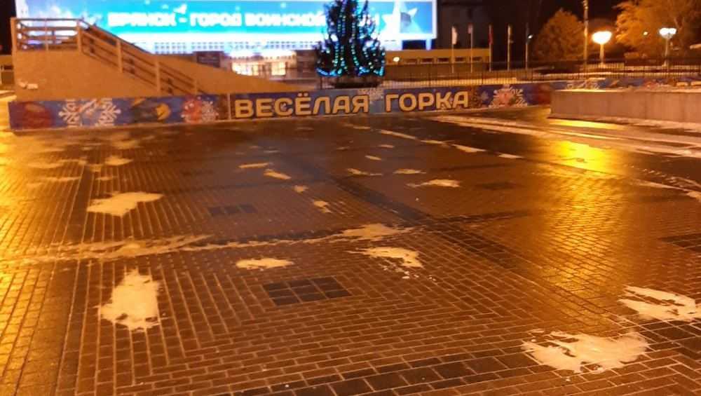 Брянцы пожаловались на скользкие дороги и тротуары