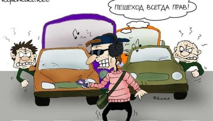 В Брянске за сутки наказали 8 маршрутчиков, 9 таксистов и 60 пешеходов