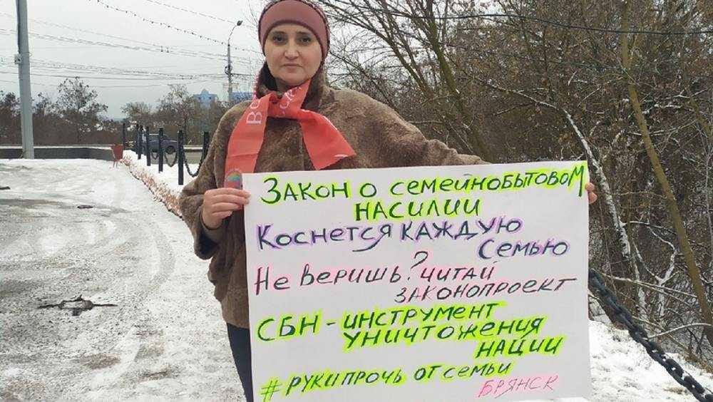В Брянске прошли одиночные пикеты против законопроектов