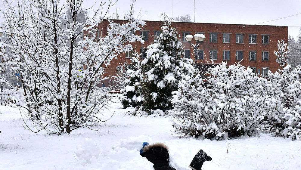В Рогнедине похвастались свежевыпавшим снегом