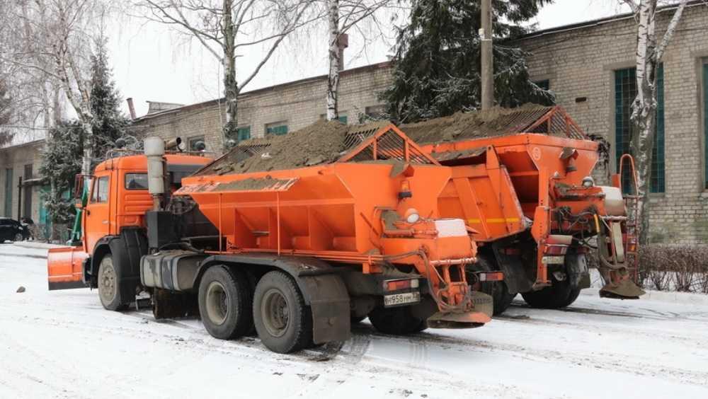 В Брянске водители похвалили вышедших на битву со снегом коммунальщиков