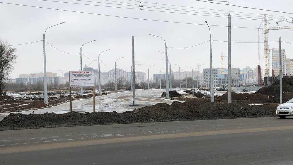 В Брянске уже начали использовать недостроенную дорогу на Советской
