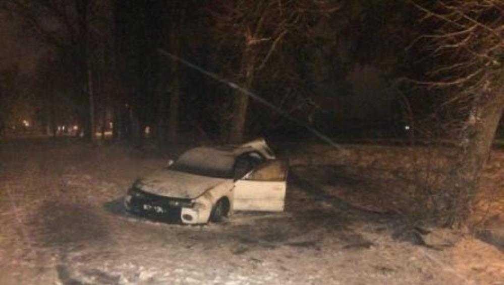 В Брянске юноша на иномарке врезался в дерево и покалечил 14-летнюю девочку