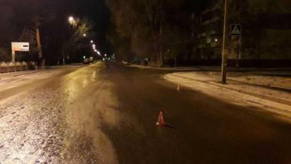 Около полуночи в Брянске сбили на переходе пьяную женщину