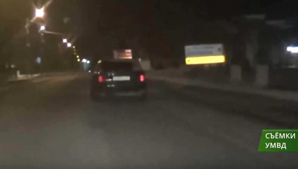 В Брянске показали видео погони за пьяным угонщиком