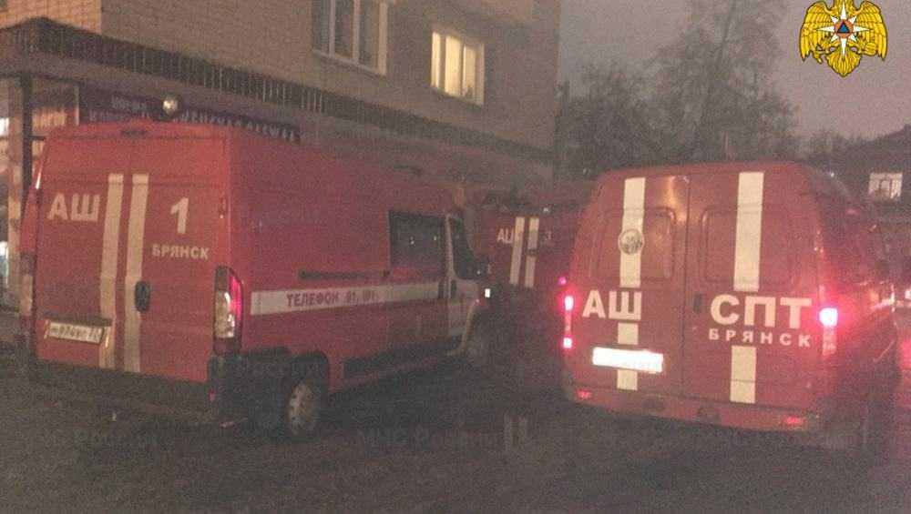 В Брянске при пожаре в многоэтажке спасли 12 человек