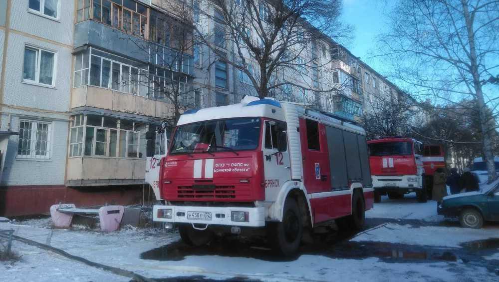 В Брянске из загоревшейся квартиры эвакуировали двух человек