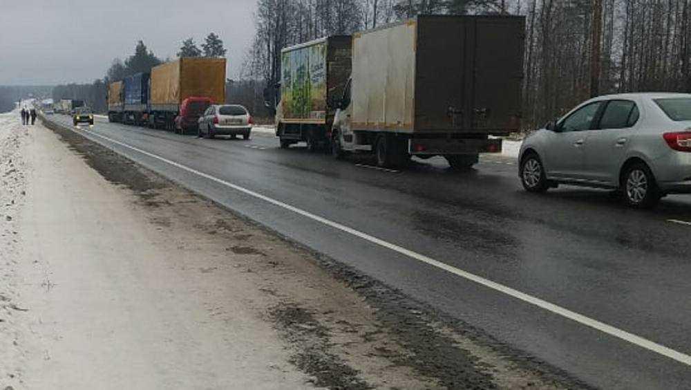 На дороге между Брянском и Карачевом образовался затор из-за ДТП
