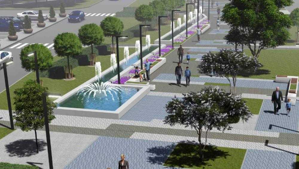 В Брянске в сквере возле «Лития» сделают фонтан в 45 метров длиной