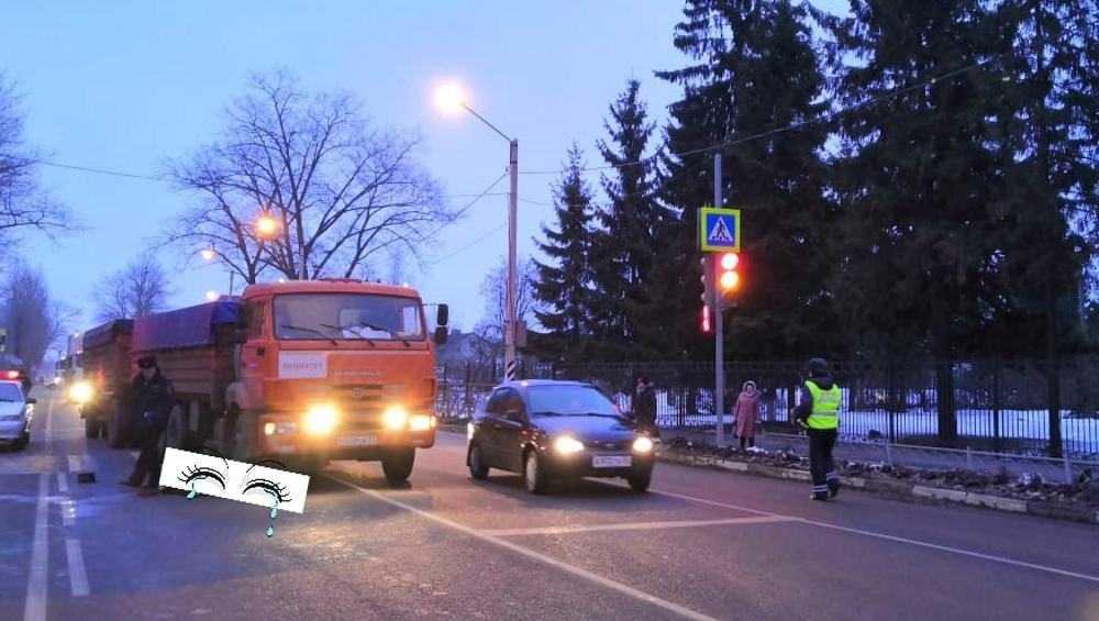 В Карачеве КамАЗ насмерть сбил пенсионера на пешеходном переходе