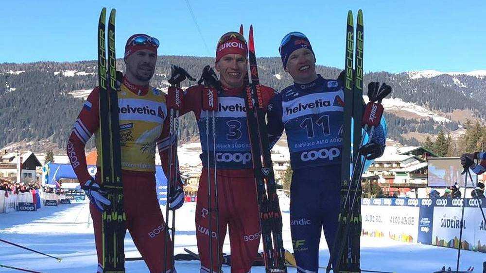 Брянский лыжник Большунов победил в гонке преследования в Италии