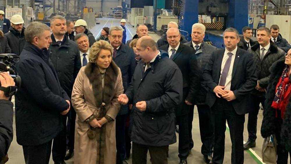 Валентина Матвиенко посетила Брянский машиностроительный завод